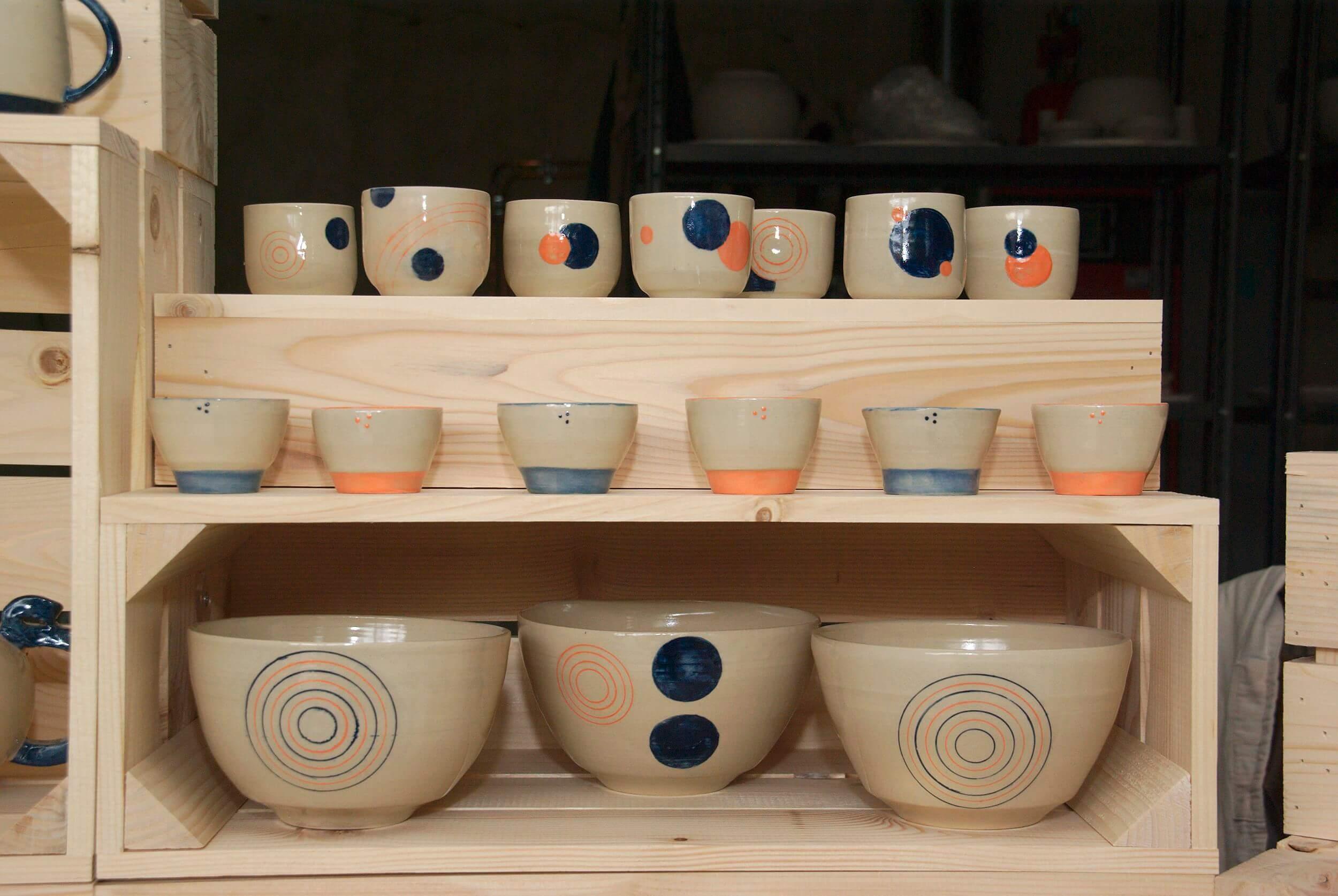 Collection bleu-orange de l'atelier Sy