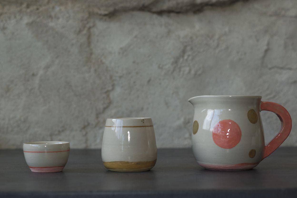 Service en grès, poterie de L'atelier Sy