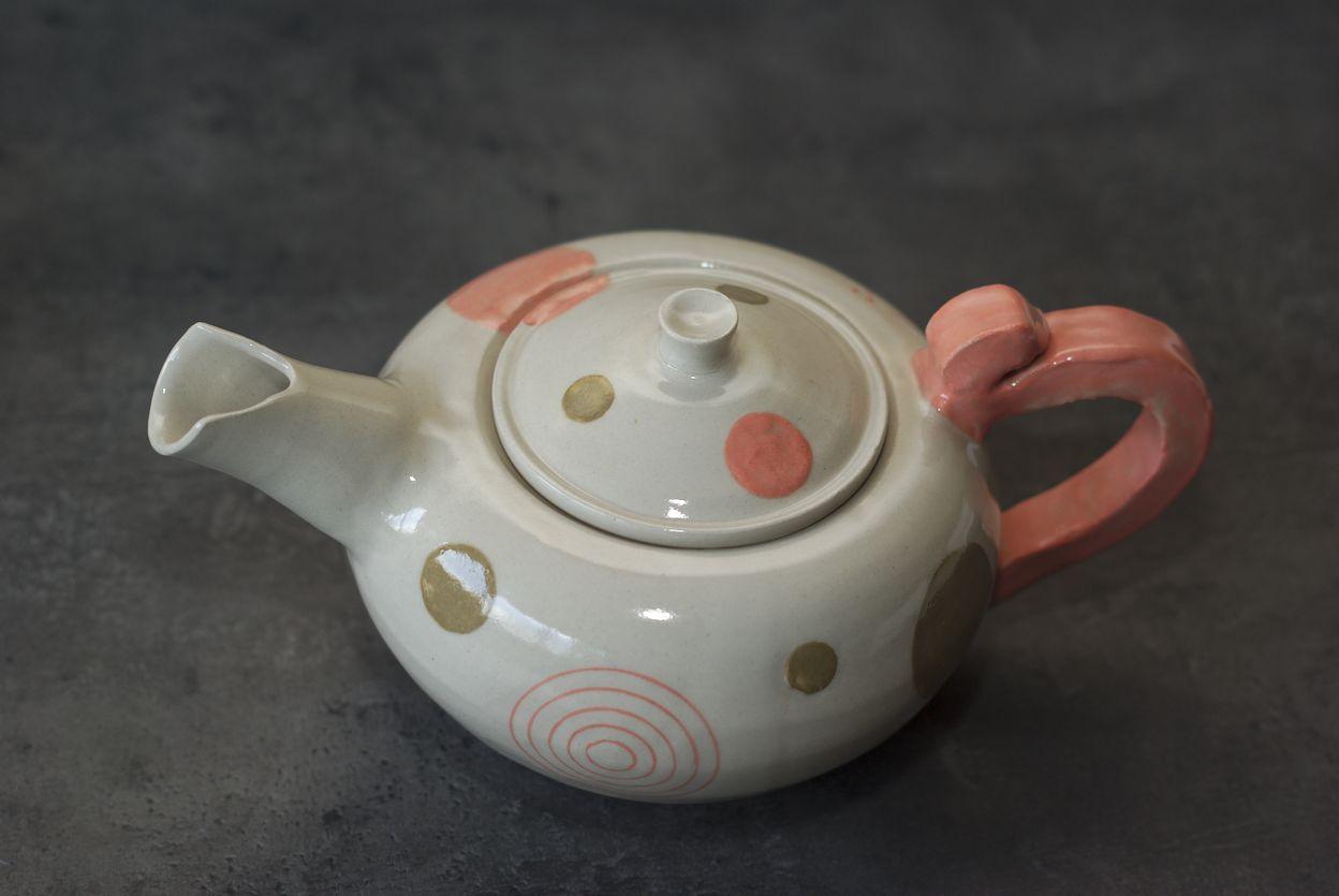 Théière en grès, poterie de L'atelier Sy