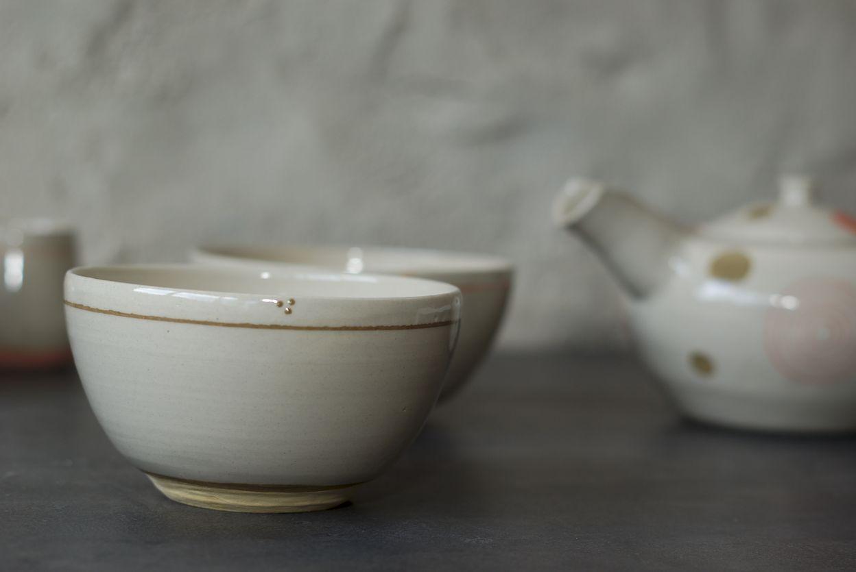 Bols en grès, poterie de L'atelier Sy