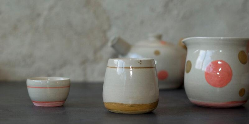Service en grès sur mesure poterie de l'Atelier Sy